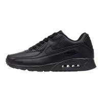 Кроссовки Nike Air Max 90 Leather Black арт 2126-1