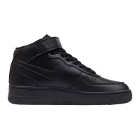 Кроссовки Nike Air Force 1 Mid '07 Black Leather арт 5001-2