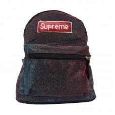 Рюкзак с блестками Supreme металлик р-р 26х30х10 арт RM-63