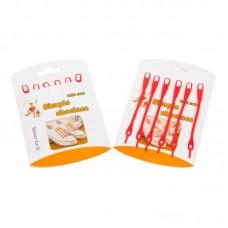 Шнурки силиконовые красные (упаковка 6 шт.) арт s008