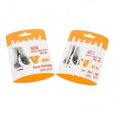 Шнурки силиконовые белые (упаковка 6 шт.) арт s009