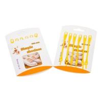 Шнурки силиконовые желтые (упаковка 6 шт.) арт s010