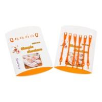 Шнурки силиконовые оранжевые (упаковка 6 шт.) арт s011