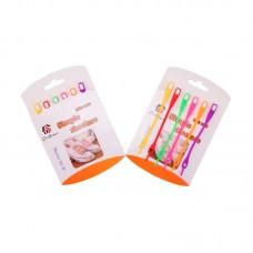 Шнурки силиконовые разноцветные (упаковка 6 шт.) арт s015